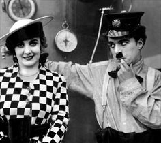Edna Purviance and Charlie Chaplin Vevey, Charlie Chaplin, Edna Purviance, Silent Screen Stars, Charles Spencer Chaplin, Old Hollywood, Hollywood Actresses, Classic Hollywood, Silent Film