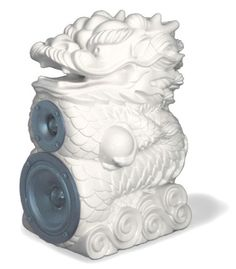 This is a very detailed and fancy speaker. It is a dragon Sculpture. It could be a decoration as well.