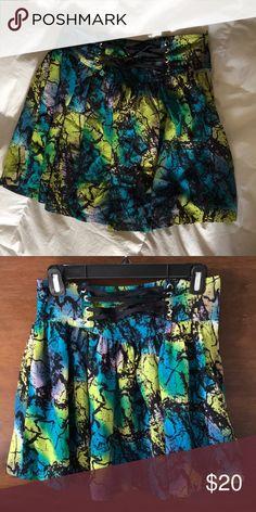 H&M skirt blue, green, black flowy skirt H&M Skirts Mini