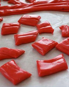 Recipe for Homemade Laffy Taffy - Sticky, chewy, salty, and sweet; all can be used to describe taffy. Little pieces of chewy delight individually wrapped in wax paper.