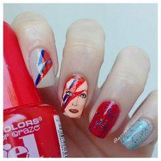 "Nail Updates — Amanda ✌ on Instagram: ""Diseño inspirado en David..."