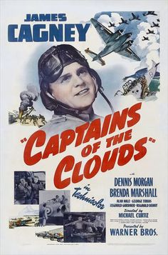 1942 movie posters | Captains of the Clouds