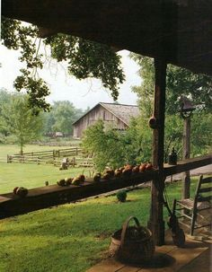 On the farm ~ Country Farm, Country Living, Country Style, Country Roads, Country Porches, Southern Living, The Farm, Vie Simple, Country Scenes