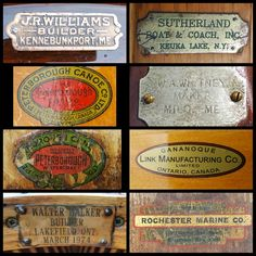 Famous Boat Plates on Wooden Canoes at Paul Smith's College