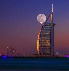 Perfect supermoon in Dubai...