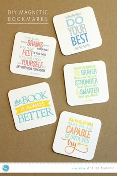 Silhouette America Blog | DIY Magnetic Bookmarks