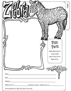zoo animals coloring pages zebra - photo#17