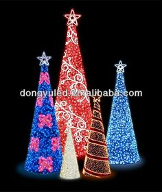 Cone Shape Tree With Revolving Lights | LED Motif Light   3D Cone Shaped  Christmas