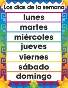 Calendar: Basic Spanish Vocabulary {audio} - Days of the weeks, months, numbers, and more!