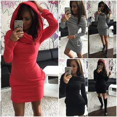 Womens Sexy Hoody Casual Party Dress