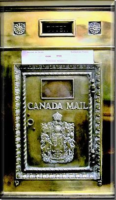 Antique Canada Mail Box Photograph