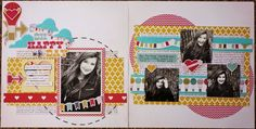 Kelly Creates: It Was A ScrapFest! Layout using the What a Wonderful Day collection by Fancypantsdesigns.com