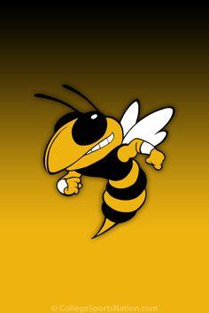 Hornet Yellow Jacket Bee Mascot Decal Sticker Cricut