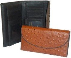 Ostrich Leather Checkbook Wallet - http://www.artydress.com/ostrich-leather-checkbook-wallet/
