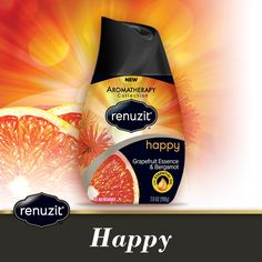 A lively blend of sparkly juicy citrus and tantalizing florals brings a happy celebration to every room in your home. #Happy #Renuzit -  www.renuzit.com