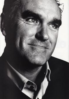 Morrissey portrait from the 2004 NME yearbook. Photograph by David Bailey.