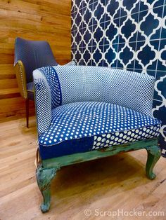 We haven't played with multiple fabrics on a single chair yet, but this encourages us to!