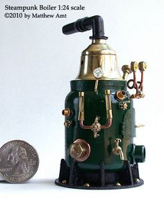 steampunk boiler in 1:24 scale