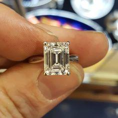 A beautiful diamond engagement ring.