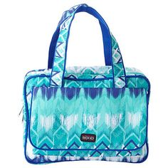 Boho Bleu Deluxe Weekender Front Pocket Make Up Bag