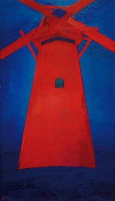 Mondrian, Piet : Red Mill In Domburg