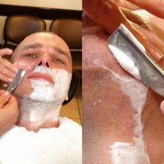 Golenie brzytwą  zapraszamy  #golenie #brzytwa #barber #barberwilanow #shave #razor #shaving #wilanów #fryzjer #miasteczkowilanów #haircut #hair