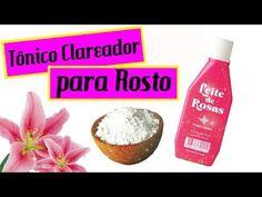 Tônico Clareador com leite de rosas e bicarbonato de sódio