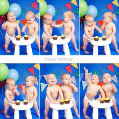 My twin boys just had their first birthday, and it's been quite a year! A little slow on the photography business side of things while I tried to get my head back above water, but I'm back on the saddle now. I wanted to do a fun smash cake shoot with these guys in honor...