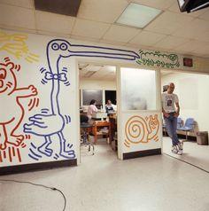 Grady Hospital | Keith Haring Bad Painting, K Haring, Jm Basquiat, Keith Allen, James Rosenquist, Keith Haring Art, Drawing Skills, Andy Warhol, Graffiti Art