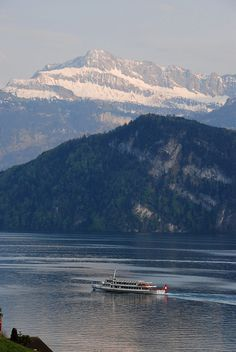 The Alps at Lake Lucerne, Switzerland