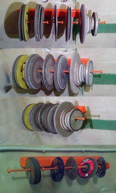 Хранение абразивных кругов для УШМ и наждаков.
