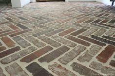 How to Design a Mortar Washed Brick Floor - Hammers N Hugs Country Cottage Style, Flooring, French Country Cottage, Laundry Craft Rooms, Best Flooring, Brick Pavers, Brick, Brick Flooring, Brick Tiles
