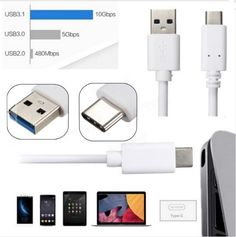 USB 3.1 Type C Male to USB 3.0 Male 2m OTG Data Cable For Smartphone