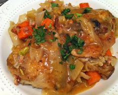 Wine-Braised Chicken with Shallots, Fennel, Carrots and Pancetta | The Artful Gourmet