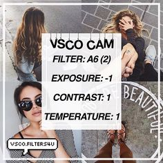 | Natural Filter ☁️| Looks best with everything! ‼️| Click the link in my bio to get free vsco filters! ❤️| Get this to 60 likes for another tutorial | Dm us with any suggestions Requested by: @filtrsgoals  Visit my squad: @vsco.squad  ___ Qotd: Should I start posting fall filters? Credit to @teenagher.s for the pictures in this edit