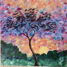 Pastel Sunrise, original acrylic painting by Kris Fairchild.