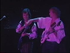 """Trevor Rabin Chris Squire Originally Posted by """"Hey, Kid.pull my finger. Yes Music, Chris Squire, Roger Dean, Progressive Rock, Rock Bands, Album Covers, Finger, Kid, Concert"""
