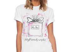 Shop Watercolor Perfume T-Shirt created by OneGiraphe. Wardrobe Staples, Watercolor Art, Fitness Models, Perfume, Paint, Female, Casual, Artist, Fabric