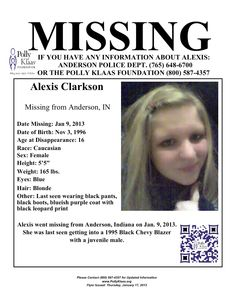 Missing Persons of America - Alexis Clarkson: Missing Teen from Indiana