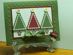 Christmas Tree Pennant Parade by crafthappy - Cards and Paper Crafts at Splitcoaststampers