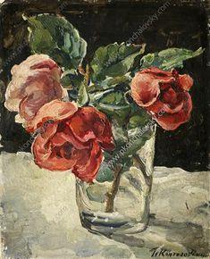 Still Life. Three roses. - Pyotr Konchalovsky