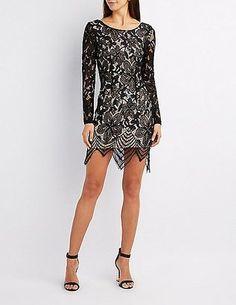 Eyelash Lace Bodycon Dress #prom