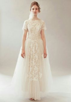 Shop affordable Vintage Bateau Neck Short Sleeve Tulle and Lace Wedding Dress at June Bridals! Over 8000 Chic wedding, bridesmaid, prom dresses & more are on hot sale. Buy Wedding Dress Online, Bridal Dresses Online, Bridal Gowns, Wedding Gowns, Lace Wedding, Backless Wedding, Modest Wedding, Mermaid Wedding, Wedding Shoes