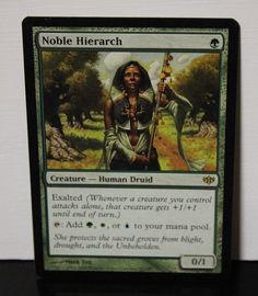Noble Hierarch Magic The Gathering MTG Trading Card #WizardsoftheCoast Elesh Norn, Dual Lands, Sacred Groves, Ancient Tomb, Magic Cards, Wizards Of The Coast, Magic The Gathering