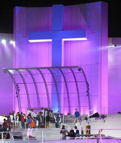 Palco da Jornada Mundial da Juventude em Copacabana JMJ 2013 Pope Francis Papa Francisco Igreja Católica jovem