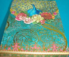 pUNCH sTUDIO Floral Peacock Mini 75 Sheet Teal Note Pad