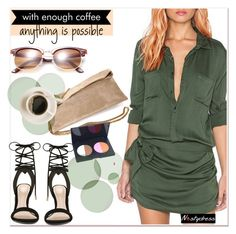 """army green  romper"" by paculi ❤ liked on Polyvore featuring ALDO, Patrizia Pepe, women's clothing, women, female, woman, misses, juniors and nastydress"