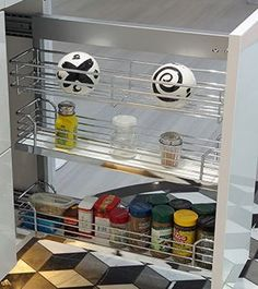 nFusionGlass includes slide-out cabinets as well!