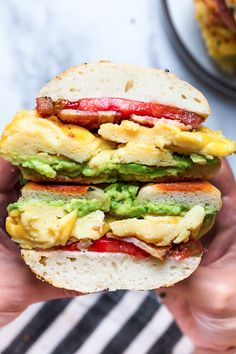 Bacon, egg and avoca