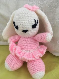 A personal favourite from my Etsy shop https://www.etsy.com/uk/listing/546351623/crochet-ballerina-baby-bunny